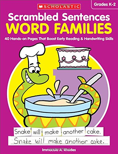 9781338113020: Scrambled Sentences: Word Families: 40 Hands-on Pages That Boost Early Reading & Handwriting Skills