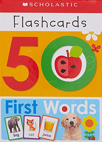 9781338161397: 50 First Words Flashcards