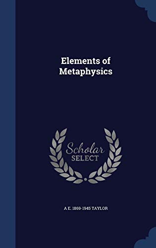 9781340222895: Elements of Metaphysics