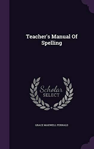 9781340627942: Teacher's Manual of Spelling