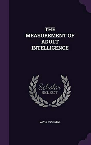 9781340638788: The Measurement of Adult Intelligence