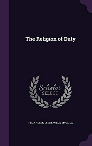 9781341217319: The Religion of Duty