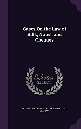 9781341312496: Cases on the Law of Bills, Notes, and Cheques