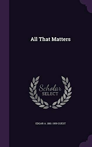 9781341456053: All That Matters