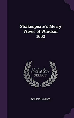 9781341517167: Shakespeare's Merry Wives of Windsor 1602