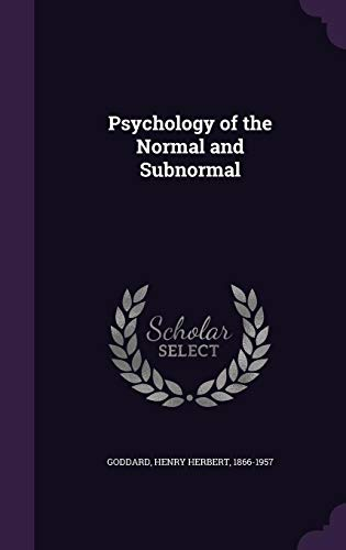 9781341632969: Psychology of the Normal and Subnormal