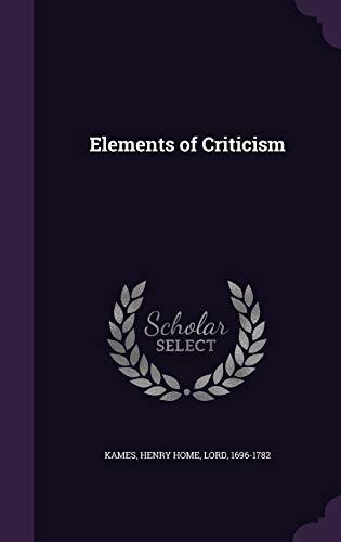 9781341644009: Elements of Criticism