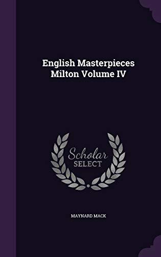 9781341650338: English Masterpieces Milton Volume IV