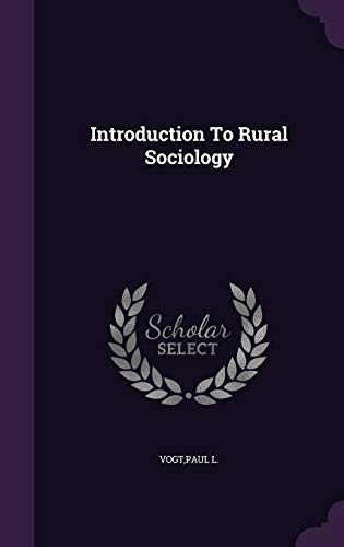 9781341724176: Introduction To Rural Sociology