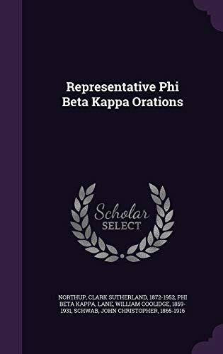 9781341966170: Representative Phi Beta Kappa Orations