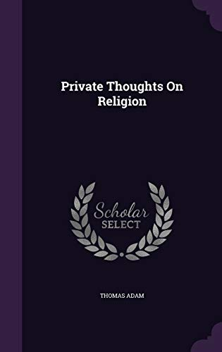9781341979750: Private Thoughts On Religion