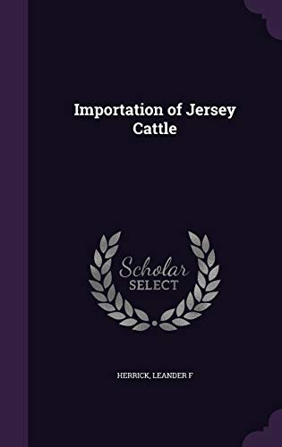 9781342020208: Importation of Jersey Cattle