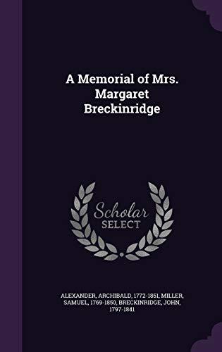 9781342146236: A Memorial of Mrs. Margaret Breckinridge