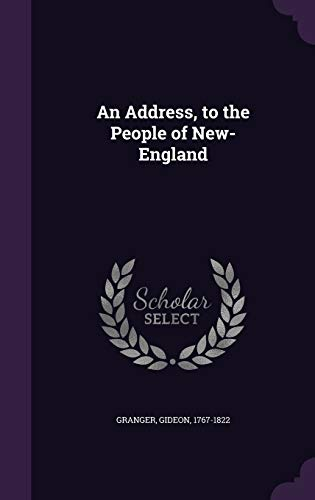 9781342237774: An Address, to the People of New-England