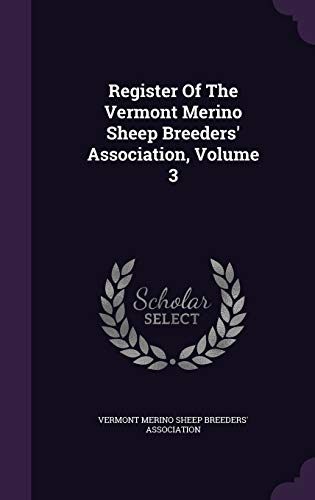 Register of the Vermont Merino Sheep Breeders
