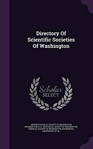 9781342865328: Directory Of Scientific Societies Of Washington
