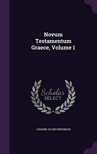 9781342949059: Novum Testamentum Graece, Volume 1