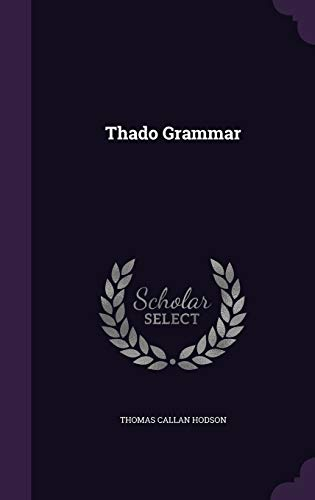 9781343342354: Thado Grammar