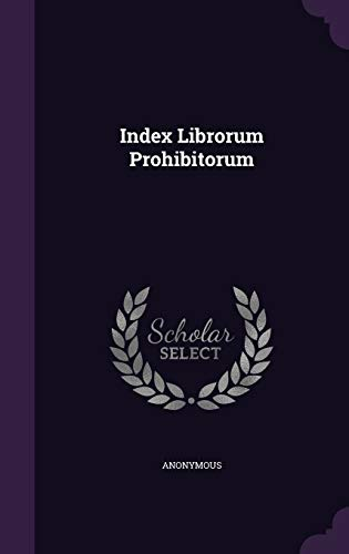 9781343364387: Index Librorum Prohibitorum