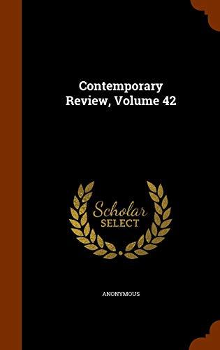 9781343490918: Contemporary Review, Volume 42