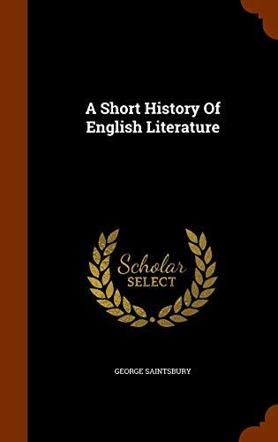 9781343902589: A Short History Of English Literature