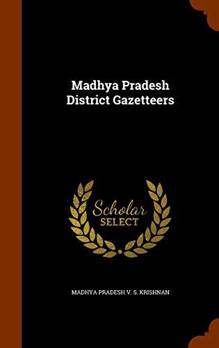 Madhya Pradesh District Gazetteers (Hardback): Madhya Pradesh V