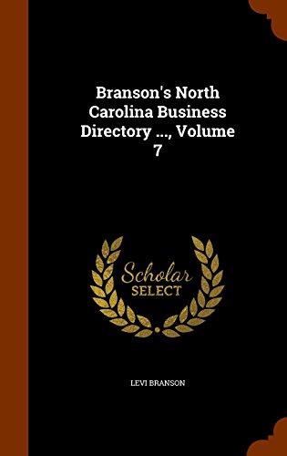 9781344708173: Branson's North Carolina Business Directory ..., Volume 7