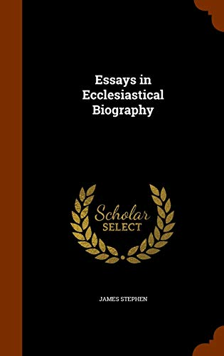9781344749862: Essays in Ecclesiastical Biography