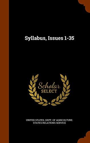 9781344916806: Syllabus, Issues 1-35