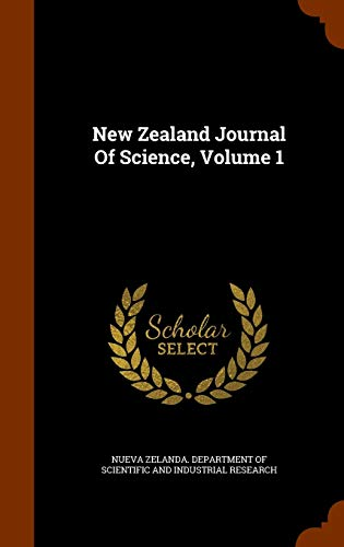 9781345283617: New Zealand Journal Of Science, Volume 1