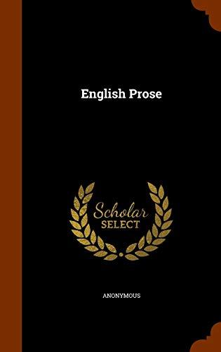 9781345295092: English Prose
