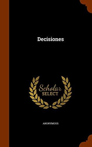 9781345295344: Decisiones