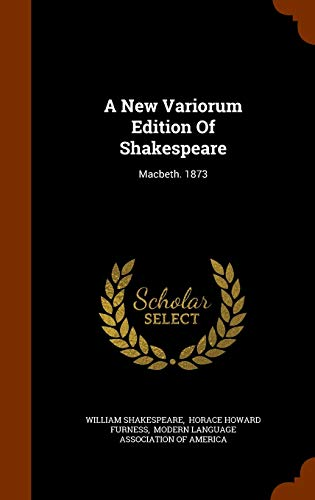9781345779004: A New Variorum Edition Of Shakespeare: Macbeth. 1873
