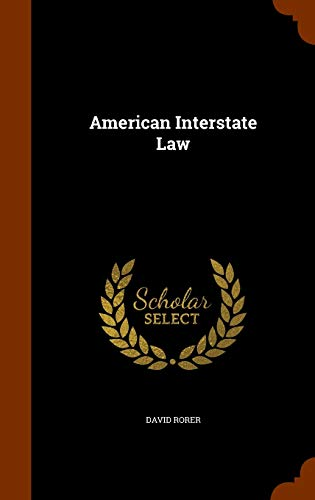 9781345781649: American Interstate Law