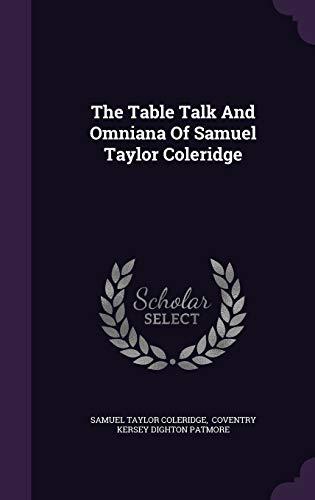 9781346355887: The Table Talk And Omniana Of Samuel Taylor Coleridge