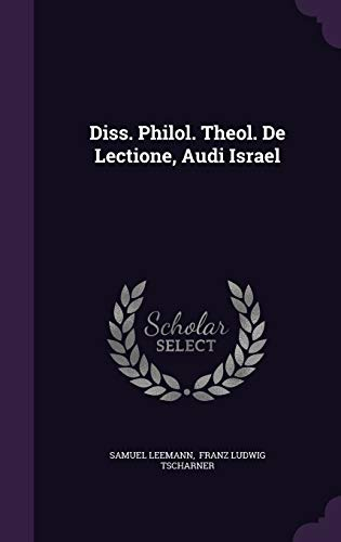9781346386362: Diss. Philol. Theol. De Lectione, Audi Israel