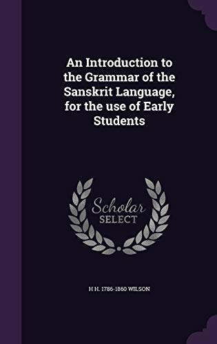 9781346665467: An Introduction to the Grammar of the Sanskrit Language, for the use of Early Students