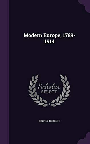 9781346698267: Modern Europe, 1789-1914