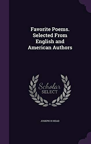 9781346744506: Favorite Poems. Selected From English and American Authors