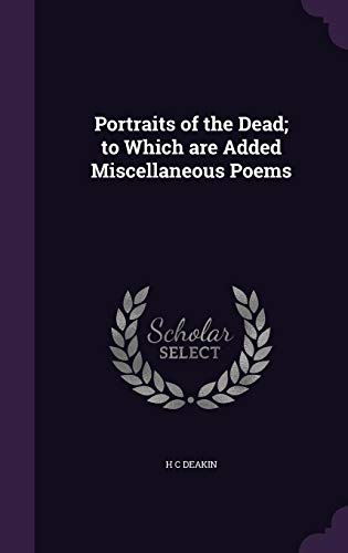 9781346780221: Portraits of the Dead; to Which are Added Miscellaneous Poems