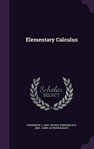 9781346838038: Elementary Calculus