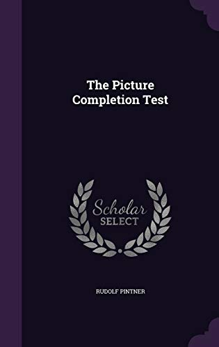 9781347163344: The Picture Completion Test