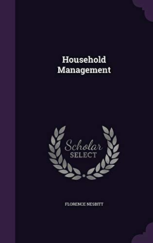 9781347240496: Household Management