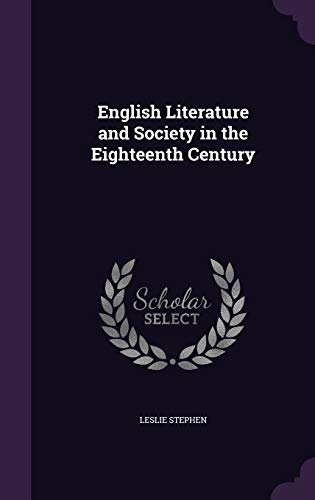 9781347409435: English Literature and Society in the Eighteenth Century