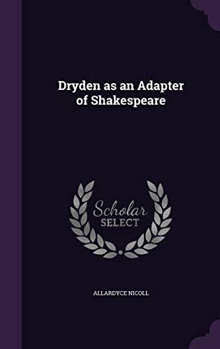 9781347502938: Dryden as an Adapter of Shakespeare