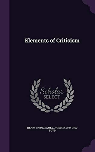 9781347546857: Elements of Criticism