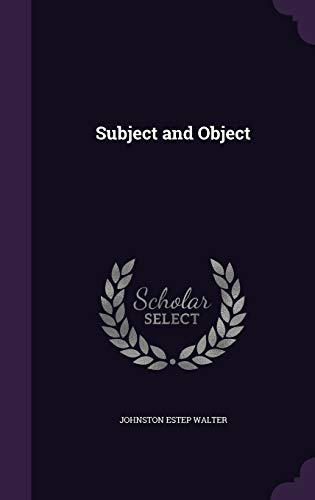 9781347555484: Subject and Object