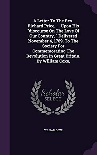 A Letter to the REV. Richard Price,: William Coxe