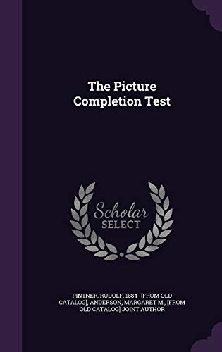 9781348145783: The Picture Completion Test
