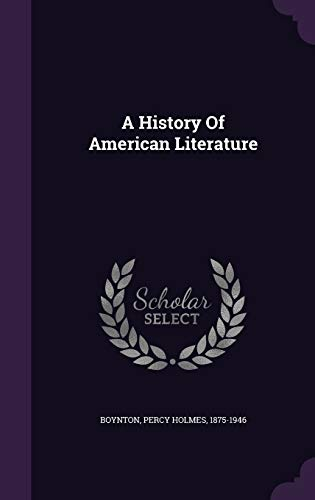 9781348151746: A History Of American Literature
